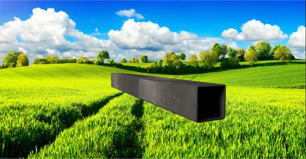 Stahl-Vierkantrohr 50x50mm, Wandstärke: 2,0mm