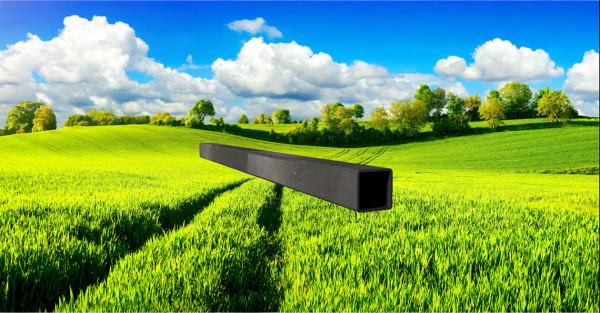 Stahl-Vierkantrohr 25x25mm, Wandstärke: 1,5mm