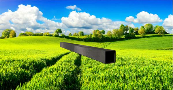 Stahl-Vierkantrohr 30x30mm, Wandstärke: 1,5mm