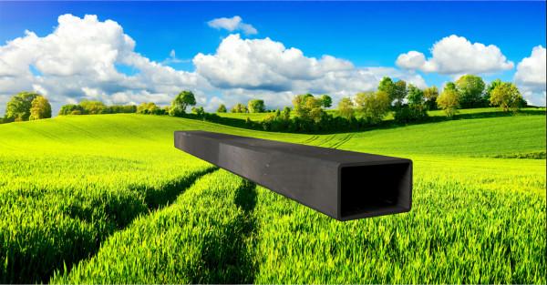 Stahl-Vierkantrohr 50x30mm, Wandstärke: 2,0mm