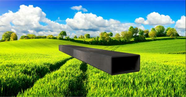 Stahl-Vierkantrohr 60x30mm, Wandstärke: 2,0mm