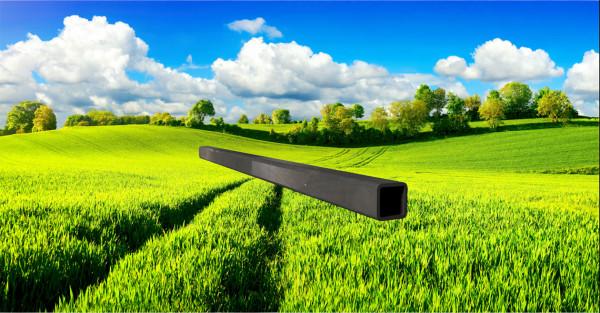 Stahl-Vierkantrohr 20x20mm, Wandstärke: 2,0mm