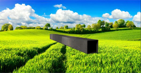 Stahl-Vierkantrohr 40x20mm, Wandstärke: 1,5mm