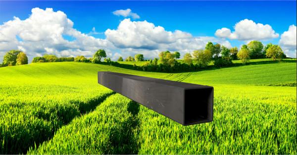 Stahl-Vierkantrohr 40x40mm, Wandstärke: 1,5mm