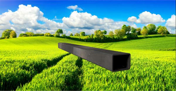 Stahl-Vierkantrohr 40x30mm, Wandstärke: 2,0mm