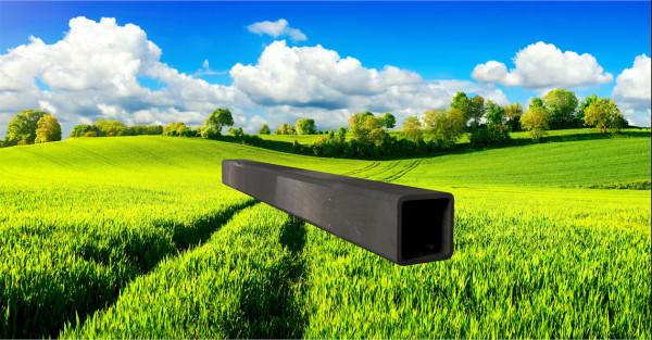 Stahl-Vierkantrohr 40x40mm, Wandstärke: 3,0mm