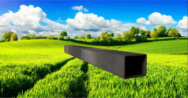 Stahl-Vierkantrohr 50x40mm, Wandstärke: 2,0mm