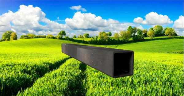 Stahl-Vierkantrohr 50x50mm, Wandstärke: 3,0mm
